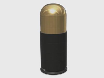 40毫米榴弹(拼装版)-3d打印模型