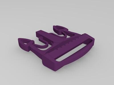 书包卡扣-3d打印模型