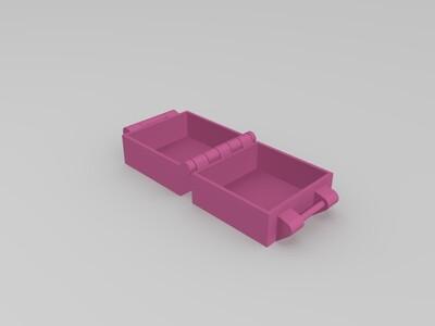 一体打印的盒子-3d打印模型