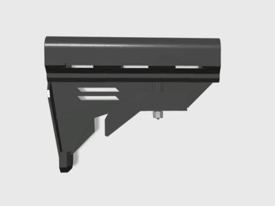 新款可动伸缩托(BB枪水弹枪都可以安装)-3d打印模型