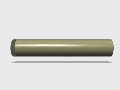 标准14毫米螺纹扣消音器-3d打印模型