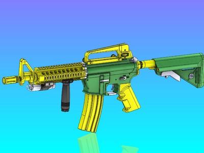 覆刻MK18 BB弹 电动气枪-3d打印模型