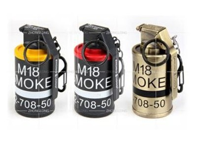 MK18烟雾弹空心带螺纹可当储藏罐-3d打印模型
