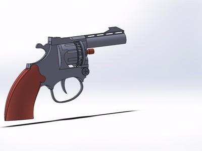 左轮 手枪-3d打印模型
