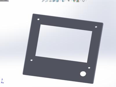2020型材版 prusa I3打印机 12864屏壳-3d打印模型