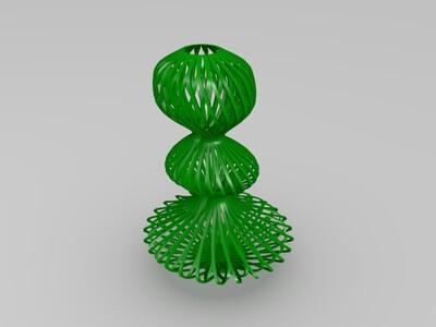 搂空花瓶-3d打印模型