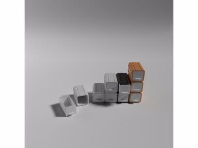 堆叠收纳盒-3d打印模型