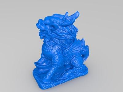 招财麒麟摆件-3d打印模型