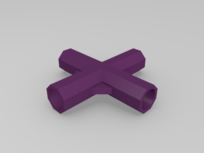 DIY衣柜鞋柜连接管-3d打印模型