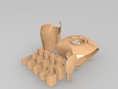 钢铁侠 上臂和手掌-3d打印模型