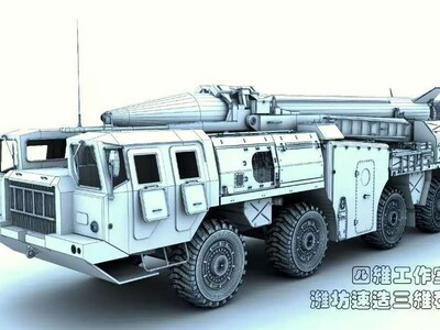 前苏联飞毛腿导弹发射车-3d打印模型