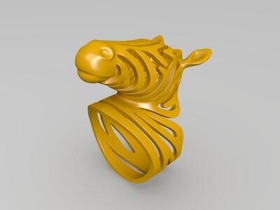斑马戒指-3d打印模型