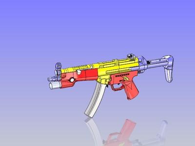 覆刻 MP5A BB弹 电动气枪-3d打印模型