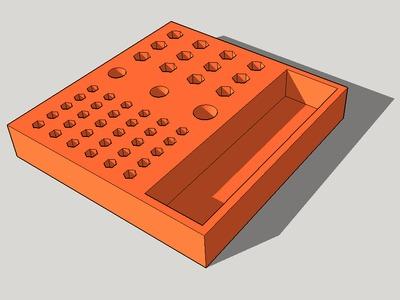 螺丝刀头底座-3d打印模型