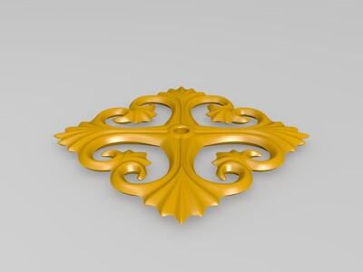 窗花浮雕-3d打印模型