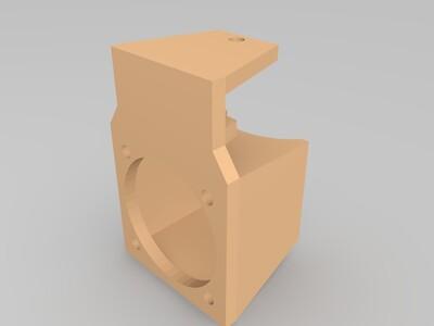 三角洲散热风扇导流罩-3d打印模型