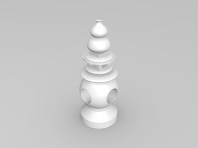 三潭印月-3d打印模型