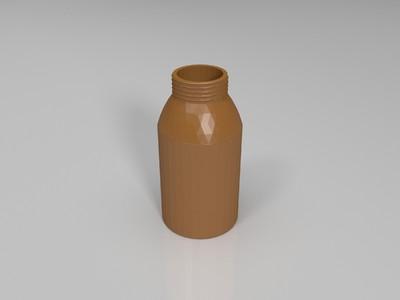 钓鱼泡窝瓶子试验瓶-3d打印模型