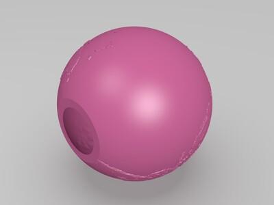 球形世界地图-3d打印模型