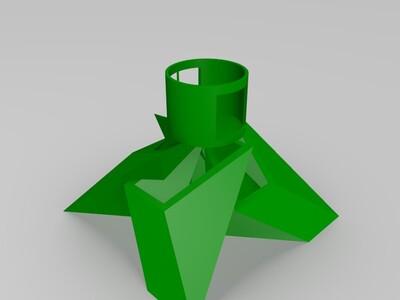 灶火形笔筒硬币筒-3d打印模型