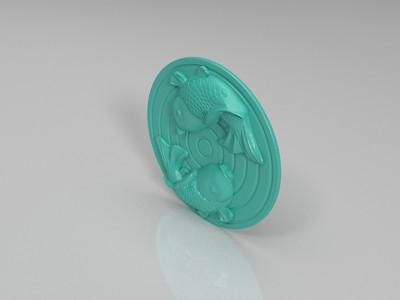 双鱼摆件-3d打印模型
