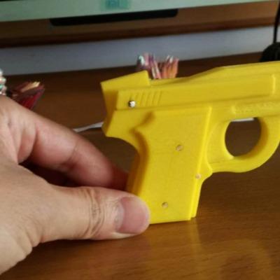 掌心雷皮筋枪-3d打印模型