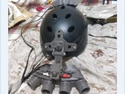 真实比例美军最新款夜视仪(拼装可活动可安装到头盔上)-3d打印模型