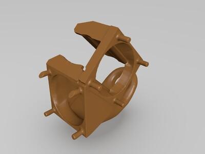 kossel 喷嘴+模型散热风扇3cm无需螺丝 提高打印质量-3d打印模型