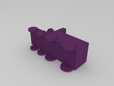 小火车花盆-3d打印模型