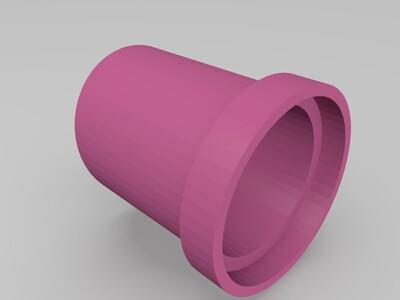 倾斜花盆-3d打印模型