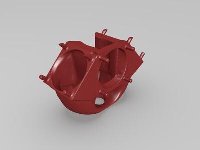 3风扇版本 kossel 喷嘴+模型散热风扇3cm无需螺丝 提高打印质量-3d打印模型