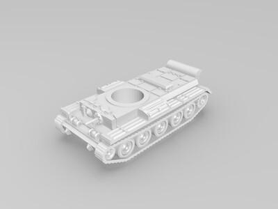 英国克伦威尔坦克-3d打印模型