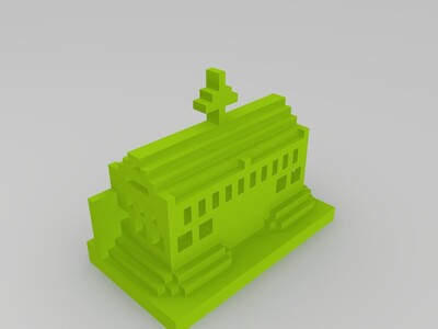 我的世界城门屋-3d打印模型