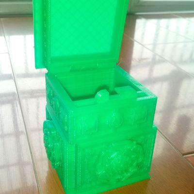 玫瑰盒 带秘密锁-3d打印模型