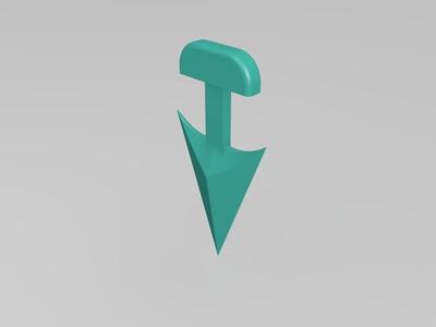 七宗罪飞刀-3d打印模型