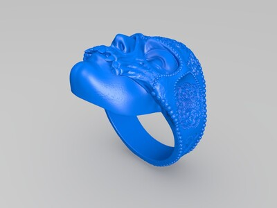 曼陀罗人像戒指-3d打印模型