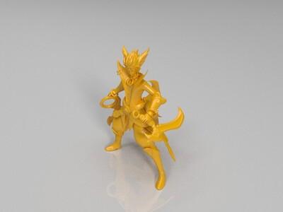 王者荣耀-百里玄策-嚣狂之镰-3d打印模型