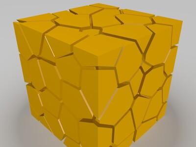 镂空方块-3d打印模型