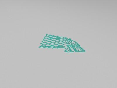 GoT史塔克家族家徽-3d打印模型
