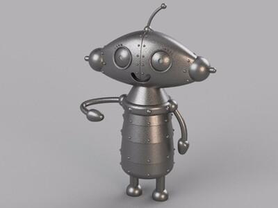 Q版女机器人-3d打印模型