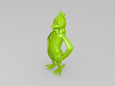卡通 公鸡-3d打印模型