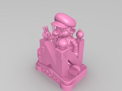 马里奥场景-3d打印模型