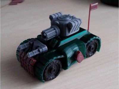 坦克车-3d打印模型