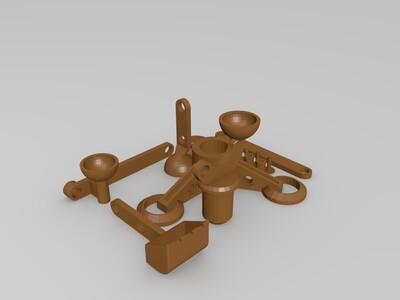 手动挖掘机-3d打印模型