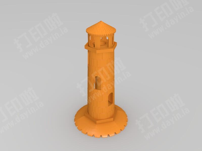 灯塔鱼缸装饰-3d打印模型