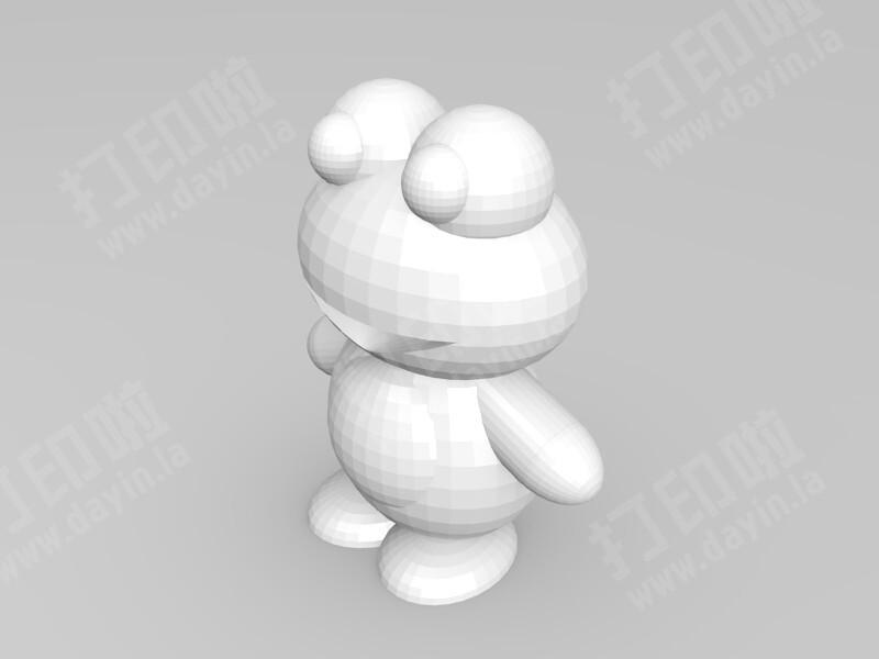 三色青蛙-3d打印模型
