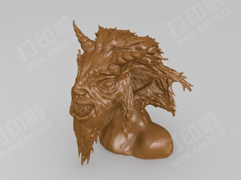山羊恶魔-3d打印模型