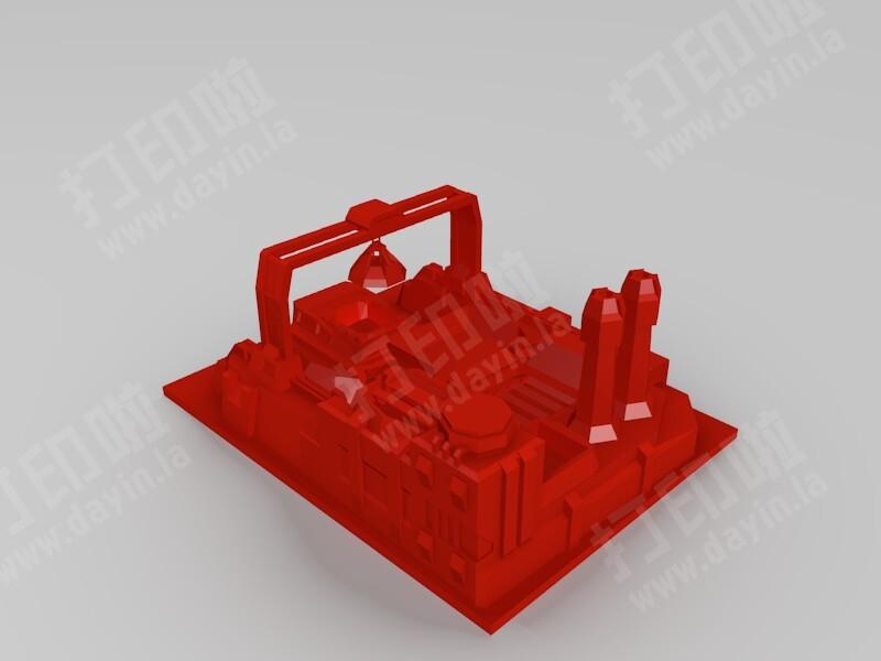 红警3盟军矿场-3d打印模型