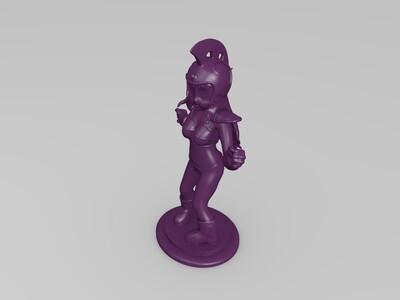 七龙珠-Q版卡通-琪琪-萝莉-简单分件-3d打印模型