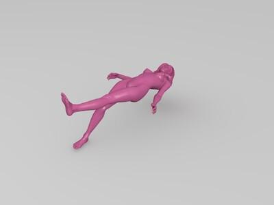 美女22-3d打印模型